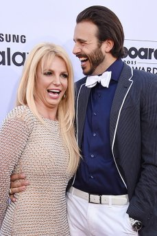 LAS VEGAS, NV - MAY 17: Recording artist Britney Spears (L) and producer Charlie Ebersol attend he 2015 Billboard Music Awards at MGM Grand Garden Arena on May 17, 2015 in Las Vegas, Nevada. (Photo by Steve Granitz/WireImage)