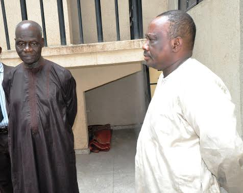 Chief of Staff to FCT Minister, Ya-u Gittal  and Assistant Director, Sani Abba. (Photo Credit: EFCC)