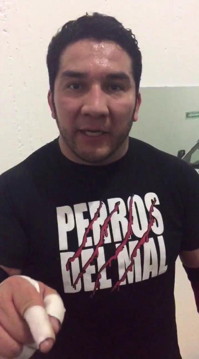 Perro Aguayo Jr. (Photo Credit: Kahnmal/twitter)