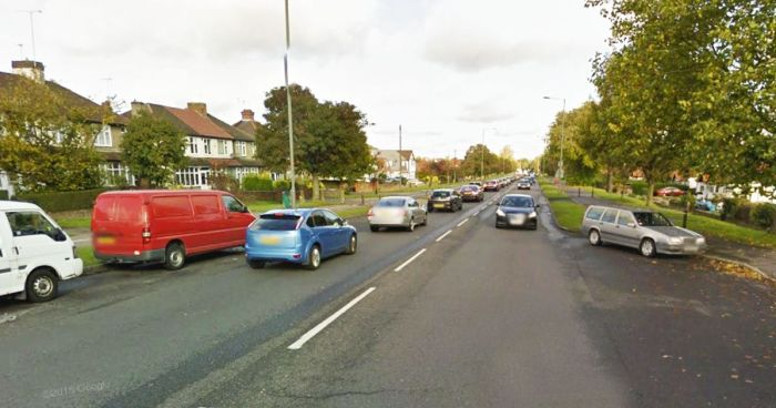 The scene where a naked man was masturbating in broad daylight inside his car in Orpington, South London on Saturday, June 6, 2015. (Photo Credit: