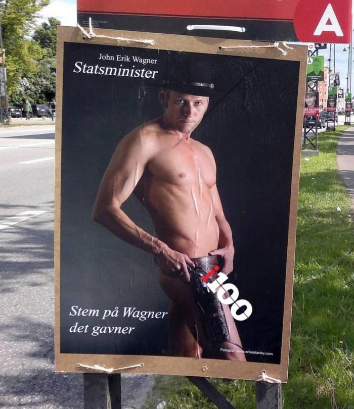 John Erik Wagner's campaign poster leaves NOTHING to the imagination (Photo Credit: John Erik Wagner)