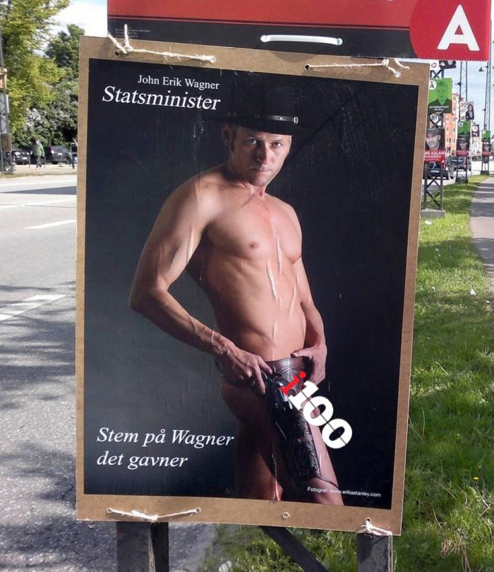 John Erik Wagner's campaign poster leaves NOTHING to the imagination (Photo Credit: John Erik Wagner)