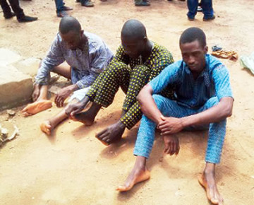 The suspected kidnappers (Credit: The Punch)