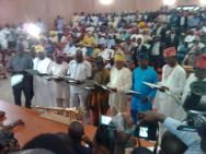 Governor Ayodele Fayose rode on a bike to the inauguration ceremony of the Ekiti State Assembly on Friday, June 5, 2015.
