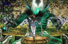 Revellers participate in the carnival samba parade at the Sambadrome Rio Carnival, Rio de Janeiro, Brazil - 17 Feb 2015 (Photo Credit: Xinhua News Agency/REX