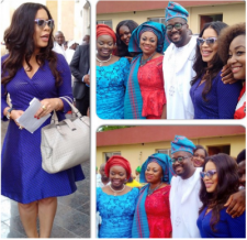 Monalisa Chinda, Desmond Elliot and his wife at the inauguration (Credit: Instagram)