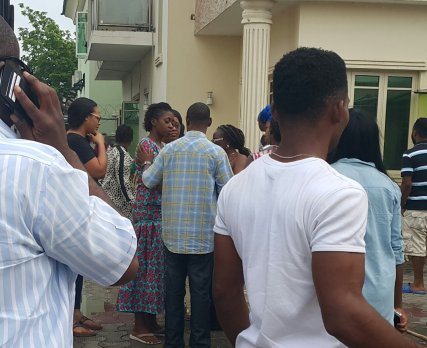Home of top Nollywood actress, Kate Henshaw, on Thursday, June 25, 2015 went up in flames in the Lekki Phase 1 area of Lagos State. (Photo Credit: Vanguard)