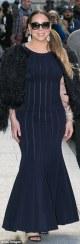 Mariah Carey in black Fishtail dress (Credit: GC Images)