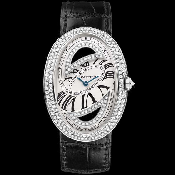 Cartier Baignoire Folle 18-Carat White Gold Diamond Ladies Watch