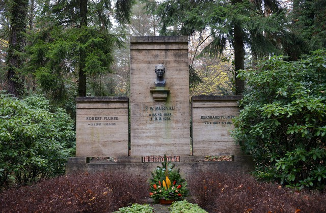 The tomb of Murnau in the cemetery of Stahnsdorf near Berlin. (Photo Credit: Schoening Berlin/Arco Images/Picture-Alliance /AFP)