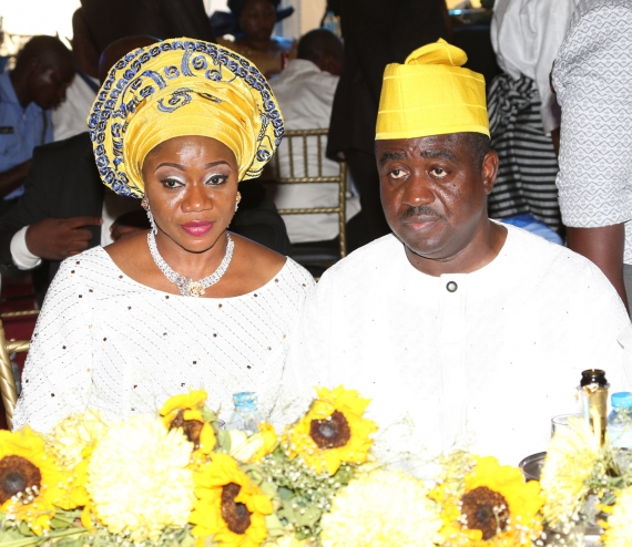 Former Benue State governor, Gabriel Suswam and wife. (Photo Credit: Tmgapp.com)