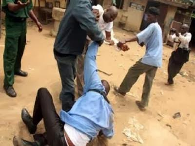 Police officer Omepa Dickson was on Wednesday, July 1, 2015 arraigned for biting off  neighbour's finger in Nasarawa State. (Photo Credit: Daily Post)