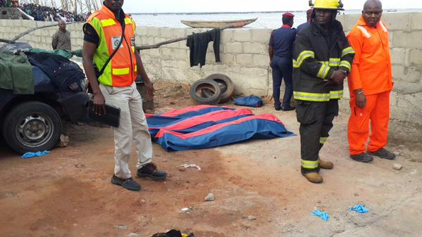 SAD: The victims of the helicopter crash in Lagos Lagoon on August 12, 2015 (Photo Credit: Uche Olatunde/Twitter)