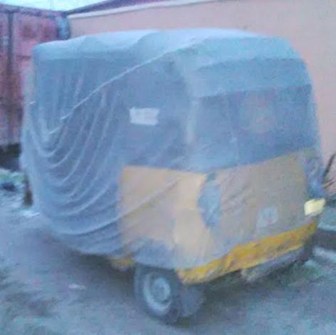 Commercial tricycle popularly referred to Keke Napep in the Lagos metropolis was on Sunday, August 9, 2015 seen around Oke-Ira Nla water bank on Lekki-Ajah road.