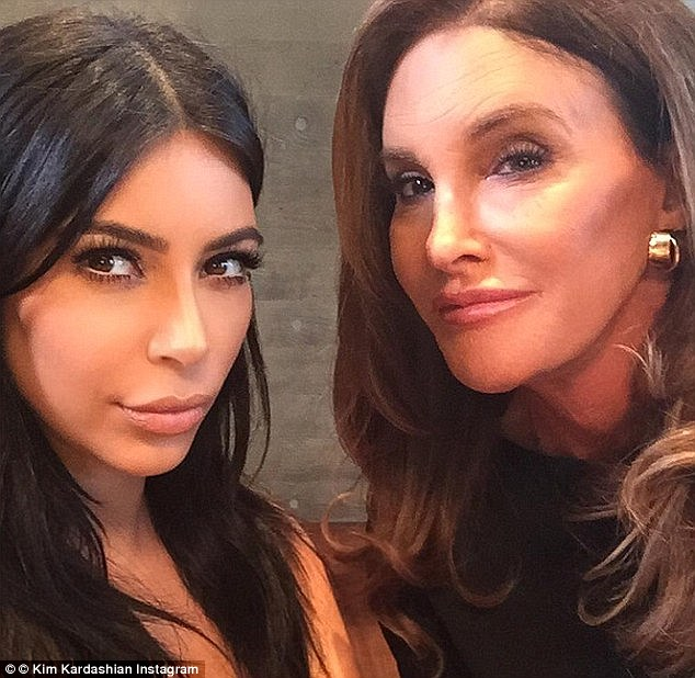Showing face: Mrs Kanye West 'posted this selfie with Caitlyn to show she won't let haters get the best of her' (posted on August 9) | Photo: Instagram