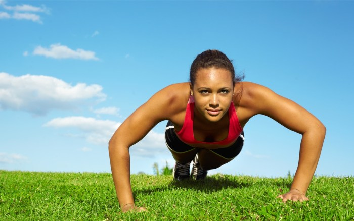 fitness work out press ups