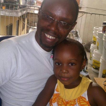 Loving Father: Emeka Jeffrey Onuoha with one of his daughters | Facebook