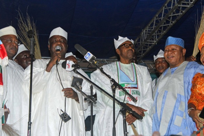 FILE: The late Prince Audu Abubakar, former governor of Kogi State and All Progressives Congress candidate for governor pictured during a campaign rally