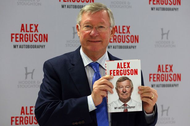 Alex Ferguson presenting his autobiography in 2013 (Photo Credit: PA)