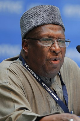 Bamanga Tukur  at the Africa Finance and Investment Forum in Cologne, Germany in June 2014