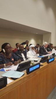 Picture of participants at the UN's 70th General Assembly Event centred on Boko Haram. Bukky Shonibare is pictured on the left | Twitter/Bukky Shonibare