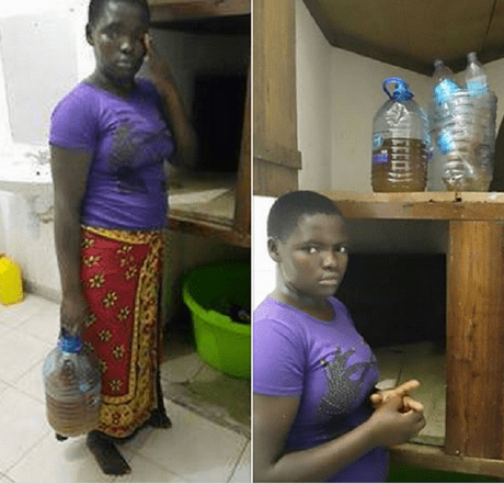 19-year-old Kenyan housemaid arrested for using her urine to prepare meals for her employers    Modern Kenya Corps Facebook