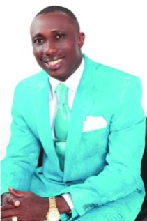 Reverend Tony Amba who discovered a 19-year-old python from his apartment in Calabar, Cross River State.