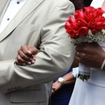 couple love kiss pregnant wedding