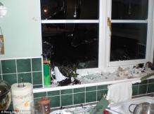 The kitchen where a fridge exploded in the UK