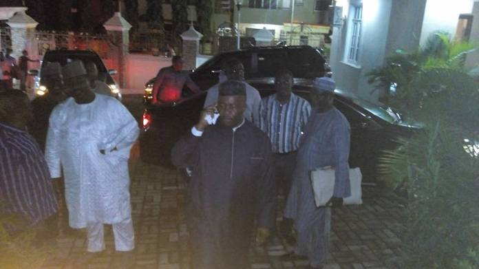 Senator Godswill Akpabio returns home after honouring an invitation by the EFCC on October 16, 2015 | Jackson Udom/Facebook