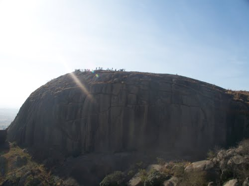 A group of tourists pictured on the top of Kufena Mountain in Kaduna in 2010. | Joe Ujah/Panoramio