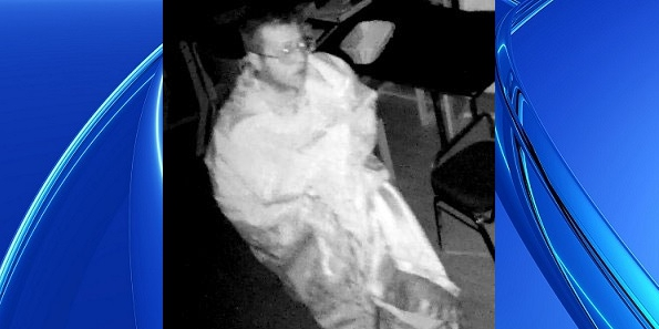 Police are looking to arrest this man on a charge of trespassing after he broke into a church and masturbated on altar | Cambridge Polce