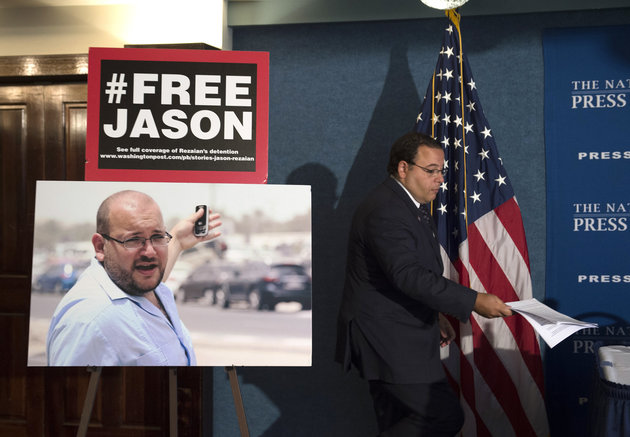 Ali Rezaian, brother of Jason Rezaian, The Washington Post's Tehran Bureau Chief who is currently in Evin Prison in Iran, arrives at a news conference at the National Press Club to give an update on the case in Washington, Wednesday, July 22, 2015. | AP Photo/Molly Riley