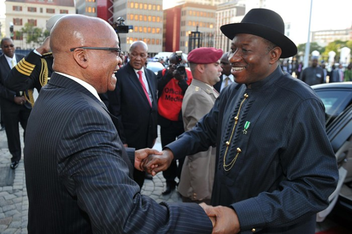 Nigeria President Goodluck Jonathan Niger Delta Jacob Zuma