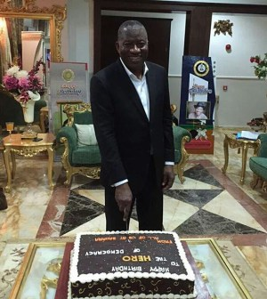 Former President Goodluck Jonathan marks 58th birthday on Friday, November 21, 2015 | Reuben Abati/ Twitter