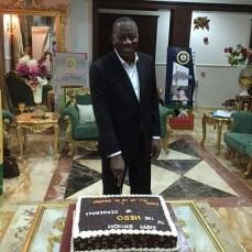 Former President Goodluck Jonathan marks 58th birthday on Friday, November 21, 2015 | Reuben Abati/ Twitter