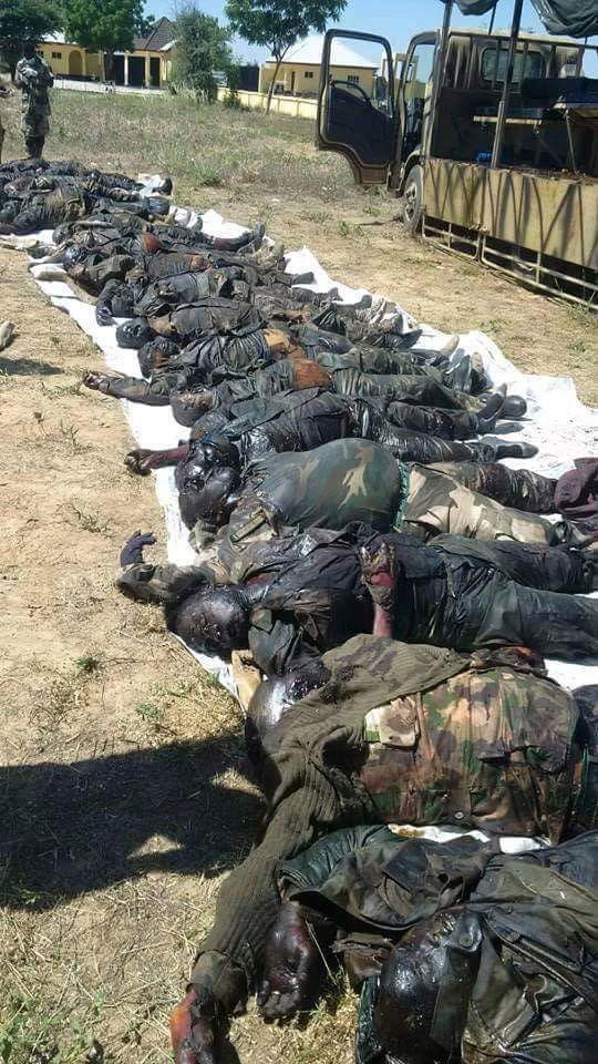 The Photo: Slain Nigerian Soldiers | Twitter