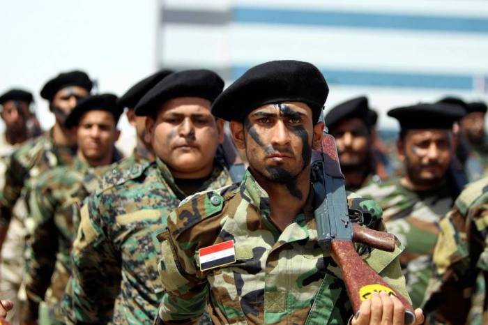 Shiite volunteers in the Iraqi battle against Islamic State.   Haider Al-Assadee/Eurpean Pressphoto Agency