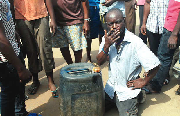 Suspected fuel thief, Kenneth Eze