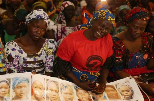 A cross section of mothers of the Chibok schoolgirls abducted from their school in 2014. The parents had staged a rally to Aso Rock to meet with President Buhari on Thursday, January 14, 2015   Philip Ojisua