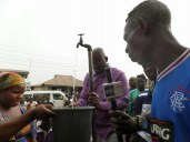 Governor Ayo Fayose inspects water fetching points in Aramoko Ekiti in Ekiti West LGA of Ekiti State |Lere Olayinka