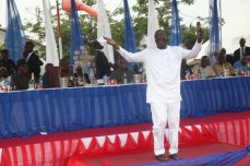 Spirit of David: Rivers State PDP Chairman, Bro Felix Obuah leads a praise and dance session at the thanksgiving session for victory at Rivers legislative rerun elections held on March 19, 2016 | Oraye St. Franklyn