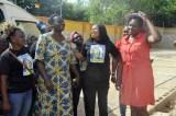 L-R: Founder Gani Fawehinmi Memorial Hospital, Dr. Hafsat Fawehinmi; Gani's Widow, Mrs. Ganiyat Fawehinmi; Gani's Granddaughter, Bunmi Oni; Chairman NCP, Dr. Yunusa Tanko; President Women Arise, Dr. Joe Okei-Odumakin & Director, IPC, Comrade Lanre Arogundade @ the Opening Of Gani Fawehinmi Memorial Hospital For Low Cost Health Services By Daughter Of Late Gani Fawehinmi On April 22nd, 2016 at Agbara Estate, Ogun State