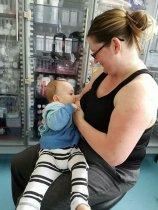 Michelle Netherton breast feeding baby Rio | SWNS