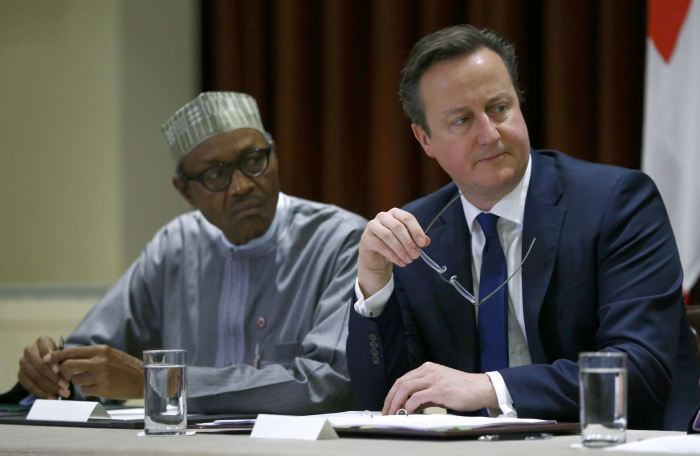 Buhari David Cameron Niger Delta Nigeria Troops