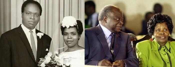 Former president Mwai Kibaki married Lucy Muthoni in 1962