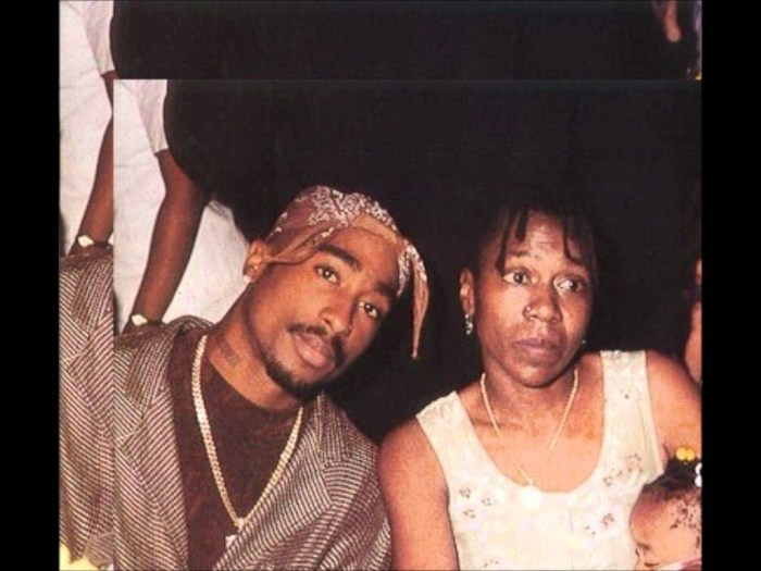 Tupac Shakur and mother Afeni Shakur (both late)