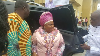 Dame Patience Jonathan, iconic former first lady of Nigeria visits her native home, Okrika, on Saturday, July 16, 2016 to participate in the funeral ceremony of late Queen Comfort Kaine Obudibo, wife of His Royal Highness, King E. T. I. Obudibo, Ikwo V., Amayanabo of Ogoloma. | Facebook