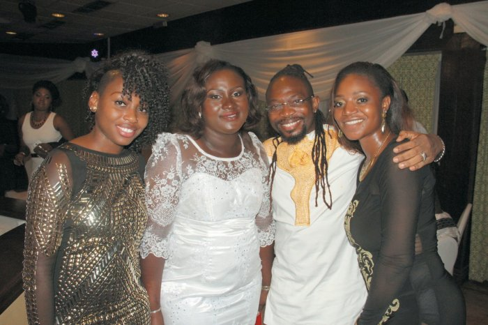 OJB Jezreel and his wives, June, Mabel (2nd left), and Korede