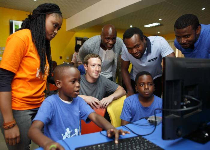 Facebook founder, Mark Zuckerberg visits the Co-Creation Hub in Lagos on August 30, 2016